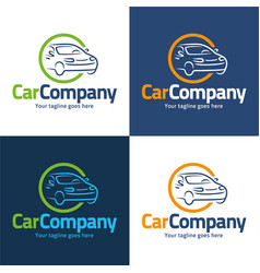 Car company logo and icon vector