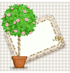 card with tree in pot vector image