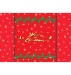 Christmas card with snowflake ornaments vector image