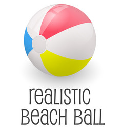 Colorful realistic beach ball vector