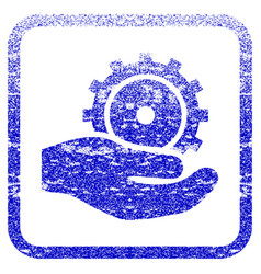 Development service framed textured icon vector