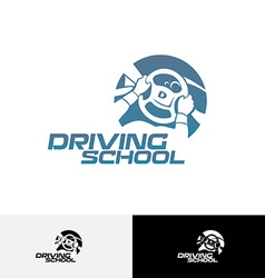 Driving school logo template vector