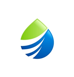 eco water drop abstract bio logo vector image vector image