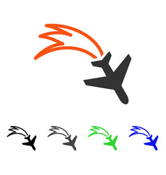 Falling airplane flat icon vector