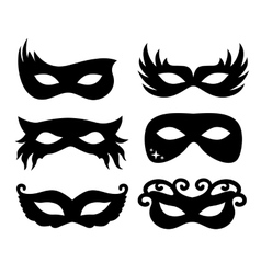 festive masks silhouette in vector image
