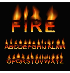 fire font vector image