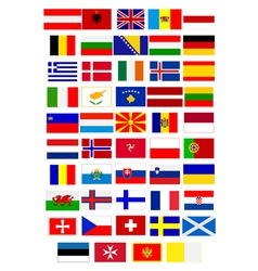 Flags of european countries vector