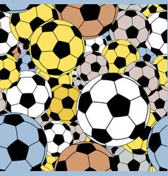footballs seamless tile vector image vector image