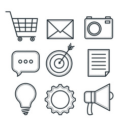 hand drawn objects design vector image