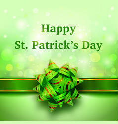 happy st patricks day holiday banner vector image