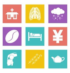 Icons for web design and mobile applications set 7 vector