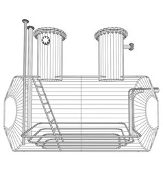 oil tank wire-frame eps10 format created vector image