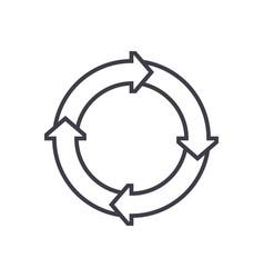 process diagrams line icon sign vector image