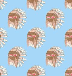 Sketch native americans hat in vintage style vector image