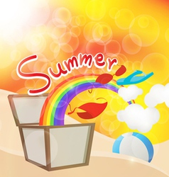 Summer box vector