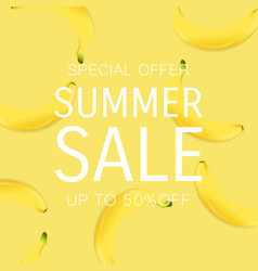 Summer sale poster with percent vector