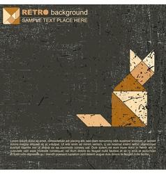 Tangram cat vector image