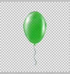 Transparent green helium balloon vector