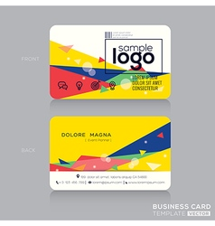 Trendy business card design template vector