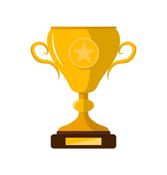 winner trophy cup with star isolated icon vector image vector image