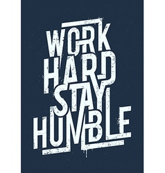 Work Hard Typography vector image vector image