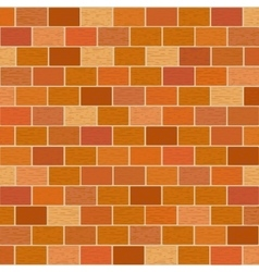 Masonry of red bricks different shades vector