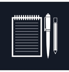 Notebook isolated on black background vector