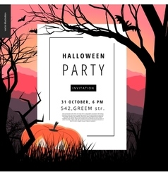 Halloween party notice poster vector