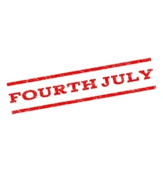 Fourth july watermark stamp vector