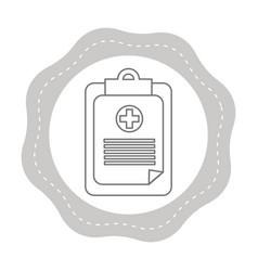 Figure sticker hospital prescription pad icon vector
