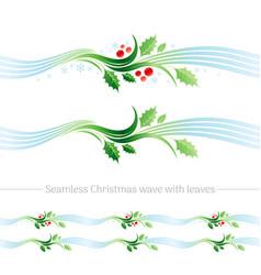 Merry christmas seamless holiday vector