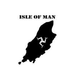 Symbol of isle of man and map vector