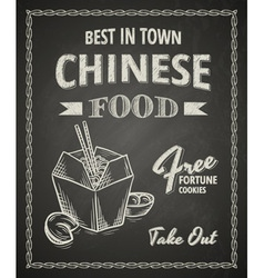 Chinese food poster vector