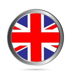 Uk flag button vector