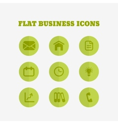 Flat icons collection vector image