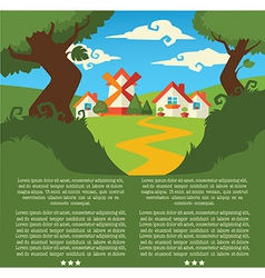 little summer village vector image
