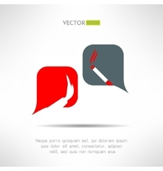 No smoking dialog bacbackground cigarette vector