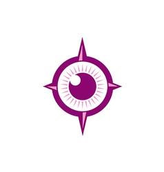eye ball abstract target logo vector image
