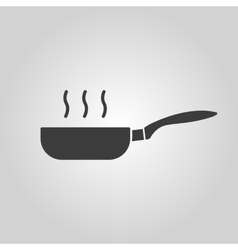 The pan icon barbecue and kitchen cook symbol vector