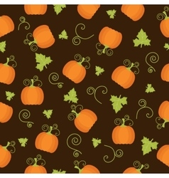 Seamless pattern with pumpkin vector