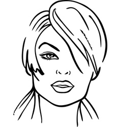 woman faces vector image