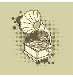 Grunge Gramophone vector image