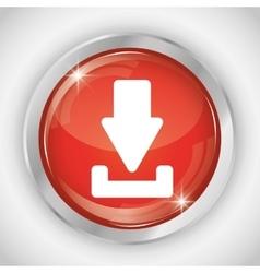 Download button icon social media design vector