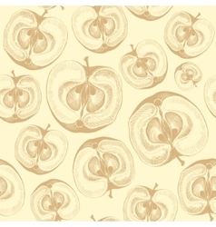 Apple fruit wallpaper seamless pattern vector image vector image