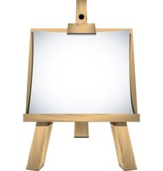 Art easel vector