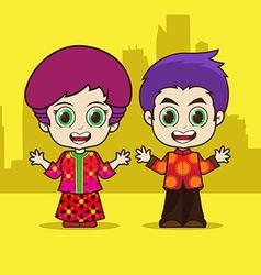 Asean singapore cartoon vector