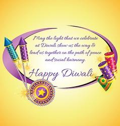 Attractive diwali card vector