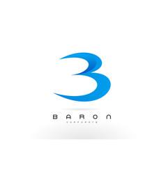 B logo blue b letter icon design vector
