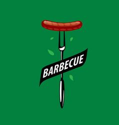 Barbecue party logo vector