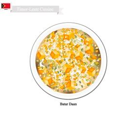 Batar daan or traditional timor-leste corn soup vector